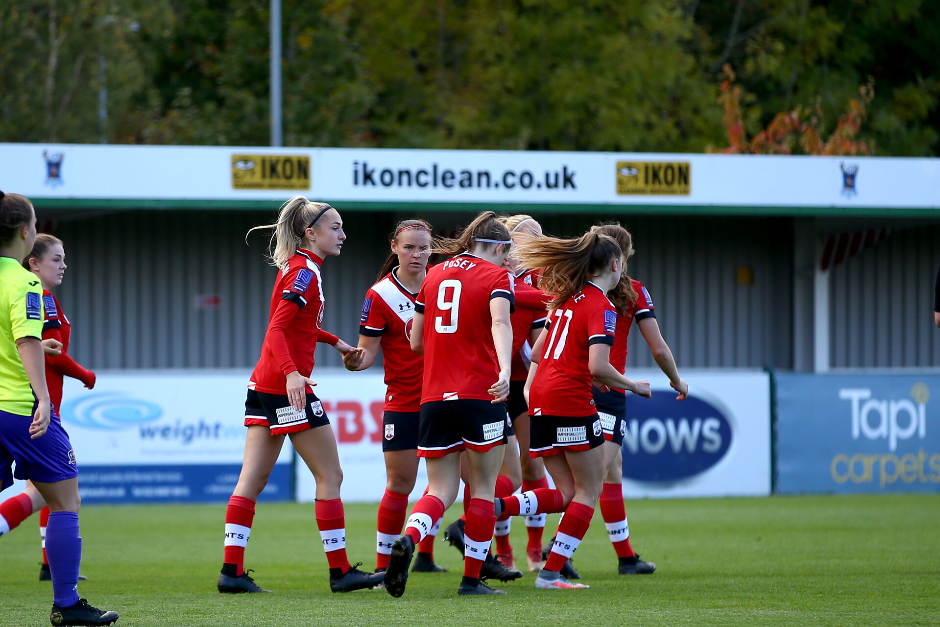 SOUTHAMPTON, ENGLAND - OCTOBER 11: during FAWNL match between Southampton Women and Exeter City at Snows Stadium on October 11, 2020 in Southampton, England. (Photo by Isabelle Field/Southampton FC via Getty Images)