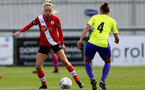 SOUTHAMPTON, ENGLAND - OCTOBER 11: Phoebe Williams (L) of Southampton during FAWNL match between Southampton Women and Exeter City at Snows Stadium on October 11, 2020 in Southampton, England. (Photo by Isabelle Field/Southampton FC via Getty Images)