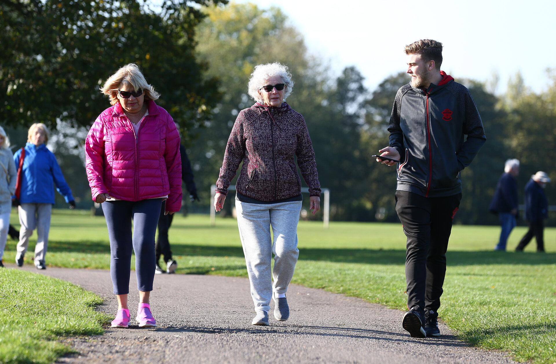 SOUTHAMPTON, ENGLAND - OCTOBER 14: Participants of a Saints Foundation walk around Riverside Park, Southampton, on October 14, 2020 in Southampton, England. (Photo by Matt Watson/Southampton FC via Getty Images)
