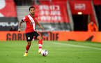 SOUTHAMPTON, ENGLAND - OCTOBER 25: Ryan Bertrand of during the Premier League match between Southampton and Everton at St Mary's Stadium on October 25, 2020 in Southampton, England. Sporting stadiums around the UK remain under strict restrictions due to the Coronavirus Pandemic as Government social distancing laws prohibit fans inside venues resulting in games being played behind closed doors. (Photo by Matt Watson/Southampton FC via Getty Images)