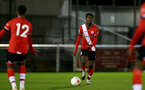 SOUTHAMPTON, ENGLAND - NOVEMBER 02: Kgaogelo Chauke(R) of Southampton during the Hampshire FA Senior Cup semi-final between Eastleigh FC and Southampton FC B Team at Silverlake Stadium on November 02, 2020 in Southampton, England. (Photo by Isabelle Field/Southampton FC via Getty Images) (Photo by Isabelle Field/Isabelle Field)