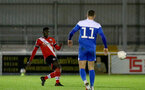 SOUTHAMPTON, ENGLAND - NOVEMBER 02: Pascal Kpohomouh(L) of during the Hampshire FA Senior Cup semi-final between Eastleigh FC and Southampton FC B Team at Silverlake Stadium on November 02, 2020 in Southampton, England. (Photo by Isabelle Field/Southampton FC via Getty Images) (Photo by Isabelle Field/Isabelle Field)