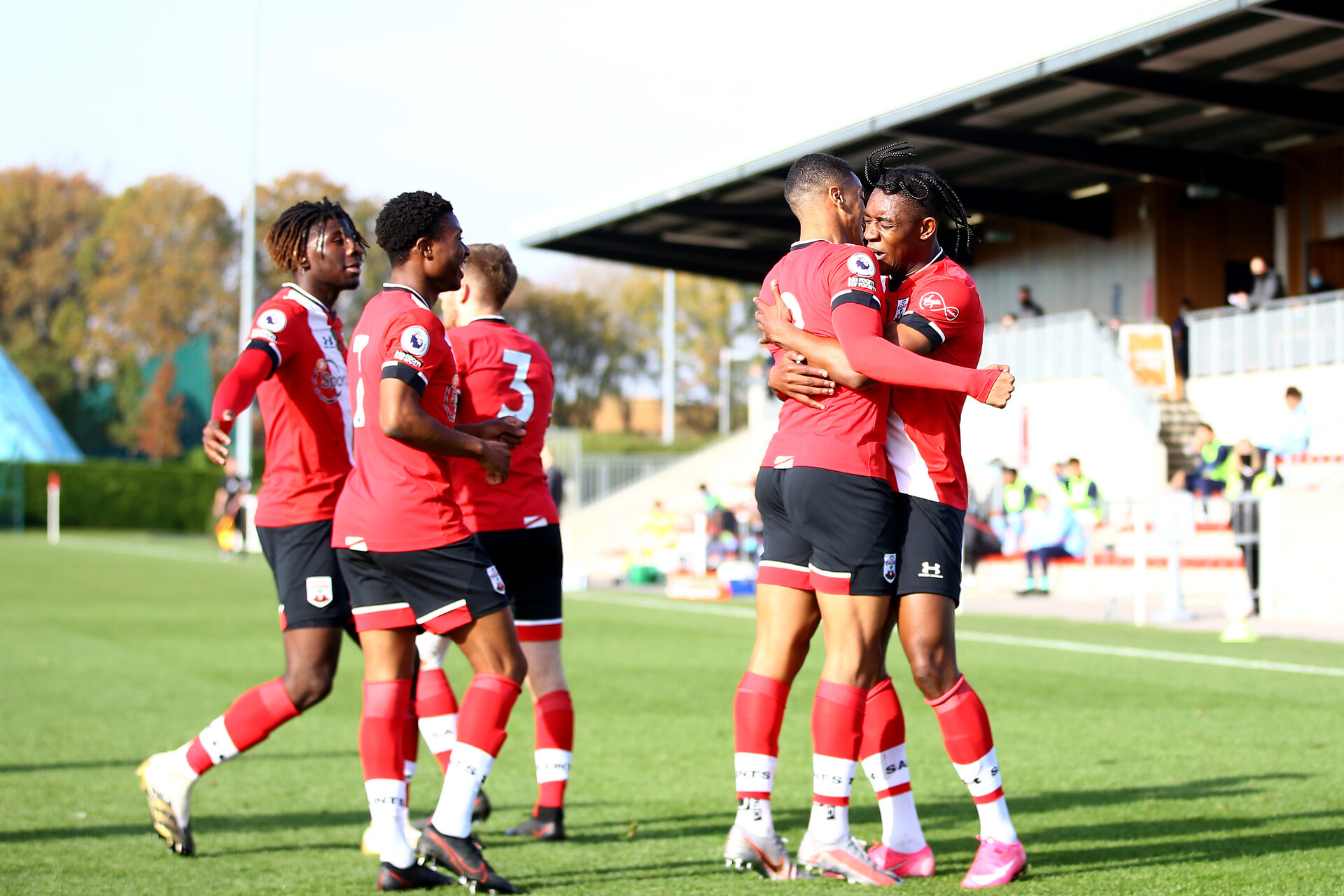 SOUTHAMPTON, ENGLAND - NOVEMBER 07: <<enter caption here>> during the Premier League 2 match between Southampton FC B Team and Manchester City at Staplewood Training Ground on November 07, 2020 in Southampton, England. (Photo by Isabelle Field/Southampton FC via Getty Images) (Photo by Isabelle Field/Isabelle Field)