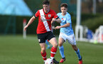 SOUTHAMPTON, ENGLAND - NOVEMBER 07: Will Ferry(L) of Southampton during the Premier League 2 match between Southampton FC B Team and Manchester City at Staplewood Training Ground on November 07, 2020 in Southampton, England. (Photo by Isabelle Field/Southampton FC via Getty Images) (Photo by Isabelle Field/Isabelle Field)