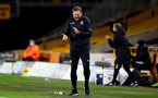WOLVERHAMPTON, ENGLAND - NOVEMBER 23: Ralph Hasenhuttl Southampton manager during the Premier League match between Wolverhampton Wanderers and Southampton at Molineux on November 23, 2020 in Wolverhampton, England. Sporting stadiums around the UK remain under strict restrictions due to the Coronavirus Pandemic as Government social distancing laws prohibit fans inside venues resulting in games being played behind closed doors. (Photo by Matt Watson/Southampton FC via Getty Images)