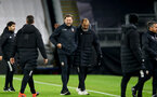 WOLVERHAMPTON, ENGLAND - NOVEMBER 23: Ralph Hasenhuttl(L) Southampton manager and Nuno Espírito Santo (R) Wolves manager at the end of the Premier League match between Wolverhampton Wanderers and Southampton at Molineux on November 23, 2020 in Wolverhampton, England. Sporting stadiums around the UK remain under strict restrictions due to the Coronavirus Pandemic as Government social distancing laws prohibit fans inside venues resulting in games being played behind closed doors. (Photo by Matt Watson/Southampton FC via Getty Images)