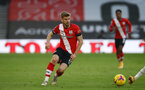 SOUTHAMPTON, ENGLAND - NOVEMBER 29: Stuart Armstrong of Southampton during the Premier League match between Southampton and Manchester United at St Mary's Stadium on November 29, 2020 in Southampton, England. Sporting stadiums around the UK remain under strict restrictions due to the Coronavirus Pandemic as Government social distancing laws prohibit fans inside venues resulting in games being played behind closed doors. (Photo by Matt Watson/Southampton FC via Getty Images)