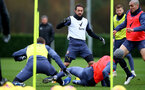 SOUTHAMPTON, ENGLAND - DECEMBER 03: Danny Ings(centre) during a Southampton FC training session at the Staplewood Campus on December 03, 2020 in Southampton, England. (Photo by Matt Watson/Southampton FC via Getty Images)