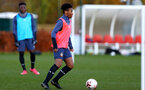SOUTHAMPTON, ENGLAND - DECEMBER 03 : Fedel Ross-Lang during Southampton U18s training session at Staplewood Complex on December 03, 2020 in Southampton, England. (Photo by Isabelle Field/Southampton FC via Getty Images)