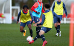 SOUTHAMPTON, ENGLAND - DECEMBER 03 : Zuriel Otseh-Taiwot during Southampton U18s training session at Staplewood Complex on December 03, 2020 in Southampton, England. (Photo by Isabelle Field/Southampton FC via Getty Images)