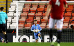 MANCHESTER, ENGLAND - DECEMBER 04: Kingsley Latham of Southampton during the Premier League 2 match between Manchester United and Southampton B Team at Leigh Sports Village on December 04, 2020 in Manchester, England. (Photo by Isabelle Field/Southampton FC via Getty Images)