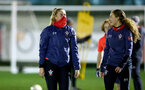 SOUTHAMPTON, ENGLAND - DECEMBER 09 : Cattlin Morris(L) and Lucia Kendall during Southampton Women's training session at Staplewood Complex on December 09, 2020 in Southampton, England. (Photo by Isabelle Field/Southampton FC via Getty Images)  (Photo by Isabelle Field/Southampton FC via Getty Images)
