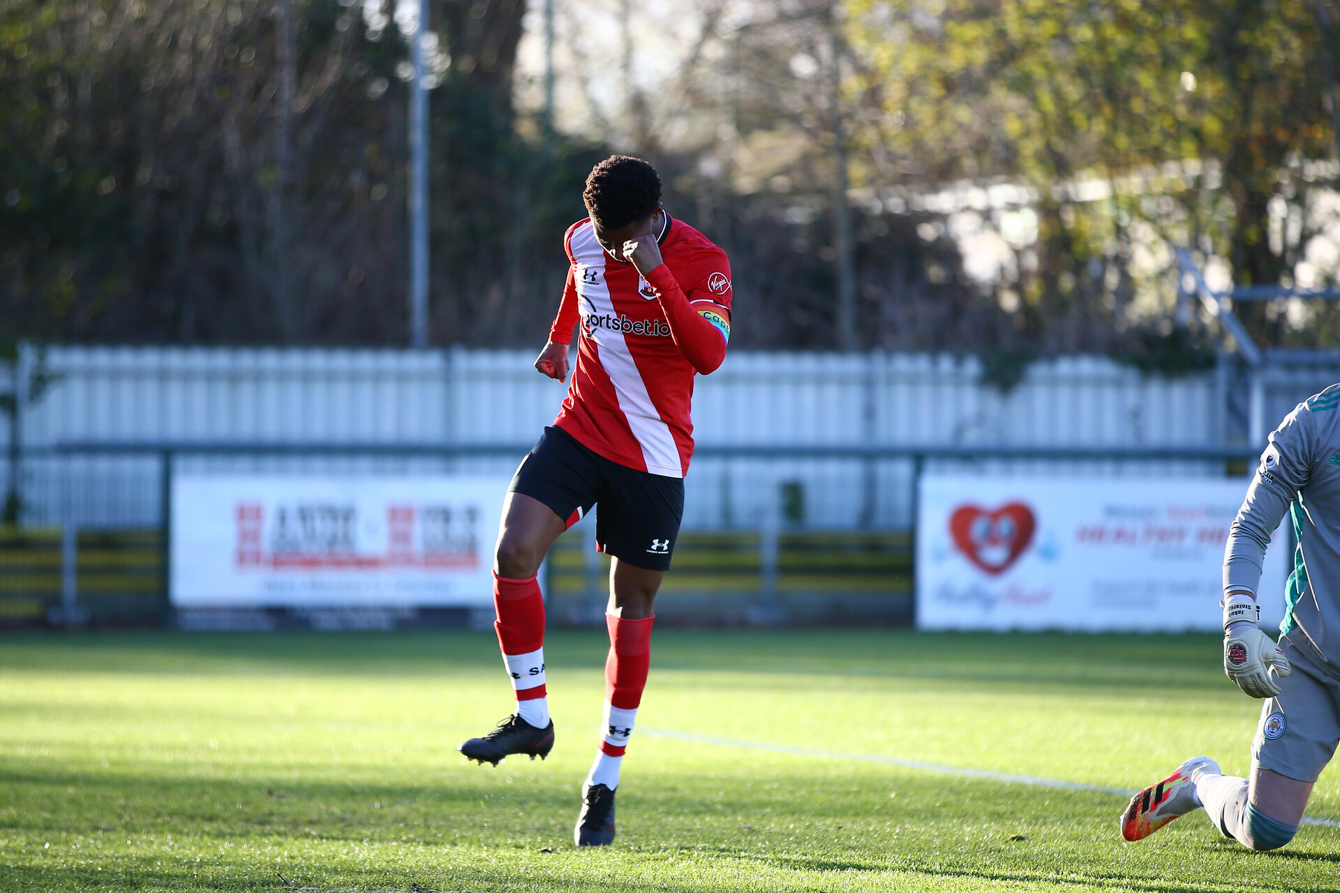 SOUTHAMPTON, ENGLAND - DECEMBER 12: during the Premier League 2 match between Southampton B Team and Leicester City at Snows Stadium on December 12, 2020 in Southampton, England. (Photo by Isabelle Field/Southampton FC via Getty Images)