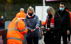 SOUTHAMPTON, ENGLAND - DECEMBER 13: Fans arrive back at the stadium during the Premier League match between Southampton and Sheffield United at St Mary's Stadium on December 13, 2020 in Southampton, England. A limited number of spectators (2000) are welcomed back to stadiums to watch elite football across England. This was following easing of restrictions on spectators in tiers one and two areas only. (Photo by Matt Watson/Southampton FC via Getty Images)