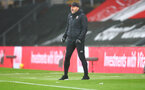 SOUTHAMPTON, ENGLAND - DECEMBER 13: Ralph Hasenhüttl of Southampton during the Premier League match between Southampton and Sheffield United at St Mary's Stadium on December 13, 2020 in Southampton, England. A limited number of spectators (2000) are welcomed back to stadiums to watch elite football across England. This was following easing of restrictions on spectators in tiers one and two areas only. (Photo by Matt Watson/Southampton FC via Getty Images)