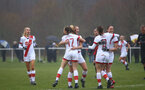 WIMBORNE, ENGLAND - DECEMBER 13: Southampton players celebrates Ella Pusey first goal during The Vitality Women's FA Cup, first-round proper match between AFC Bournemouth and Southampton FC Women's at Verwood FC on December 13, 2020 in, Wimborne, England. (Photo by Isabelle Field/Southampton FC via Getty Images)