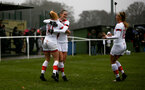 WIMBORNE, ENGLAND - DECEMBER 13: Ella Pusey of Southampton celebrates scoring with her team mates during The Vitality Women's FA Cup, first-round proper match between AFC Bournemouth and Southampton FC Women's at Verwood FC on December 13, 2020 in, Wimborne, England. (Photo by Isabelle Field/Southampton FC via Getty Images)