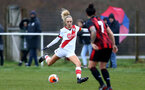 WIMBORNE, ENGLAND - DECEMBER 13: Phoebe Williams of Southampton during The Vitality Women's FA Cup, first-round proper match between AFC Bournemouth and Southampton FC Women's at Verwood FC on December 13, 2020 in, Wimborne, England. (Photo by Isabelle Field/Southampton FC via Getty Images)