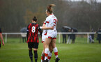 WIMBORNE, ENGLAND - DECEMBER 13:  Ella Pusey of Southampton congratulates Lucia Kendall on her goal during The Vitality Women's FA Cup, first-round proper match between AFC Bournemouth and Southampton FC Women's at Verwood FC on December 13, 2020 in, Wimborne, England. (Photo by Isabelle Field/Southampton FC via Getty Images)