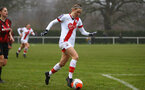 WIMBORNE, ENGLAND - DECEMBER 13: Ella Morris of Southampton  during The Vitality Women's FA Cup, first-round proper match between AFC Bournemouth and Southampton FC Women's at Verwood FC on December 13, 2020 in, Wimborne, England. (Photo by Isabelle Field/Southampton FC via Getty Images)