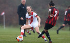WIMBORNE, ENGLAND - DECEMBER 13: Lucia Kendall of Southampton during The Vitality Women's FA Cup, first-round proper match between AFC Bournemouth and Southampton FC Women's at Verwood FC on December 13, 2020 in, Wimborne, England. (Photo by Isabelle Field/Southampton FC via Getty Images)