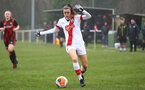 WIMBORNE, ENGLAND - DECEMBER 13: Ella Pusey of Southampton during The Vitality Women's FA Cup, first-round proper match between AFC Bournemouth and Southampton FC Women's at Verwood FC on December 13, 2020 in, Wimborne, England. (Photo by Isabelle Field/Southampton FC via Getty Images)