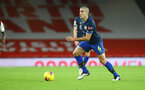 LONDON, ENGLAND - DECEMBER 16: Oriol Romeu of Southampton during the Premier League match between Arsenal and Southampton at Emirates Stadium on December 16, 2020 in London, England. The match will be played without fans, behind closed doors as a Covid-19 precaution. (Photo by Matt Watson/Southampton FC via Getty Images)