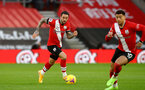 SOUTHAMPTON, ENGLAND - DECEMBER 19: Danny Ings of Southampton during the Premier League match between Southampton and Manchester City at St Mary's Stadium on December 19, 2020 in Southampton, England. A limited number of fans (2000) are welcomed back to stadiums to watch elite football across England. This was following easing of restrictions on spectators in tiers one and two areas only. (Photo by Matt Watson/Southampton FC via Getty Images)