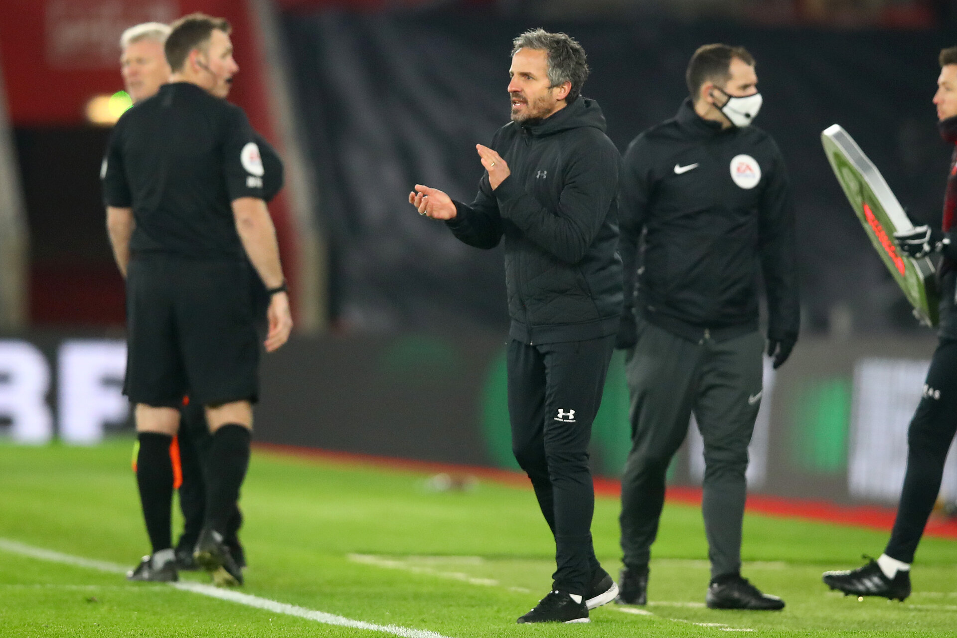 SOUTHAMPTON, ENGLAND - DECEMBER 29: Richard Kitzichler of Southampton first team assistant coach during the Premier League match between Southampton and West Ham United at St Mary's Stadium on December 29, 2020 in Southampton, England. The match will be played without fans, behind closed doors as a Covid-19 precaution. (Photo by Matt Watson/Southampton FC via Getty Images)