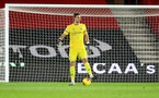 SOUTHAMPTON, ENGLAND - DECEMBER 29: Alex McCarthy of Southampton during the Premier League match between Southampton and West Ham United at St Mary's Stadium on December 29, 2020 in Southampton, England. (Photo by Matt Watson/Southampton FC via Getty Images)