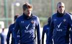 SOUTHAMPTON, ENGLAND - JANUARY 02: Stuart Armstrong(L) and Oriol Romeu during a Southampton FC training session at the Staplewood Campus on January 02, 2021 in Southampton, England. (Photo by Matt Watson/Southampton FC via Getty Images)