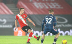SOUTHAMPTON, ENGLAND - JANUARY 26: James Ward-Prowse of Southampton during the Premier League match between Southampton and Arsenal at St Mary's Stadium on January 26, 2021 in Southampton, England. Sporting stadiums around the UK remain under strict restrictions due to the Coronavirus Pandemic as Government social distancing laws prohibit fans inside venues resulting in games being played behind closed doors. (Photo by Matt Watson/Southampton FC via Getty Images)