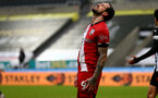 NEWCASTLE UPON TYNE, ENGLAND - FEBRUARY 06: Danny Ings of Southampton during the Premier League match between Newcastle United and Southampton at St. James Park on February 06, 2021 in Newcastle upon Tyne, England. Sporting stadiums around the UK remain under strict restrictions due to the Coronavirus Pandemic as Government social distancing laws prohibit fans inside venues resulting in games being played behind closed doors. (Photo by Matt Watson/Southampton FC via Getty Images)