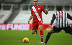 NEWCASTLE UPON TYNE, ENGLAND - FEBRUARY 06: Oriol Romeu of Southampton during the Premier League match between Newcastle United and Southampton at St. James Park on February 06, 2021 in Newcastle upon Tyne, England. Sporting stadiums around the UK remain under strict restrictions due to the Coronavirus Pandemic as Government social distancing laws prohibit fans inside venues resulting in games being played behind closed doors. (Photo by Matt Watson/Southampton FC via Getty Images)