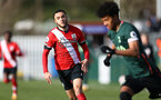 SOUTHAMPTON, ENGLAND - FEBRUARY 07: Jayden Smith of Southampton during the Premier League 2 match between  Southampton B Team and Tottenham Hotspur at Snows Stadium on February 07, 2021 in Southampton, England. (Photo by Isabelle Field/Southampton FC via Getty Images)