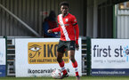 SOUTHAMPTON, ENGLAND - FEBRUARY 07: David Agbontohoma  of Southampton during the Premier League 2 match between  Southampton B Team and Tottenham Hotspur at Snows Stadium on February 07, 2021 in Southampton, England. (Photo by Isabelle Field/Southampton FC via Getty Images)