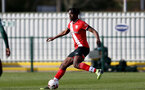 SOUTHAMPTON, ENGLAND - FEBRUARY 07: Allan Tchaptchet of Southampton during the Premier League 2 match between  Southampton B Team and Tottenham Hotspur at Snows Stadium on February 07, 2021 in Southampton, England. (Photo by Isabelle Field/Southampton FC via Getty Images)