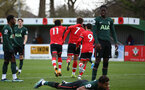 SOUTHAMPTON, ENGLAND - FEBRUARY 07: Sam Bellis (7) goal celebration during the Premier League 2 match between  Southampton B Team and Tottenham Hotspur at Snows Stadium on February 07, 2021 in Southampton, England. (Photo by Isabelle Field/Southampton FC via Getty Images)