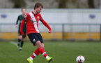 SOUTHAMPTON, ENGLAND - FEBRUARY 07: Sam Bellis of Southampton during the Premier League 2 match between  Southampton B Team and Tottenham Hotspur at Snows Stadium on February 07, 2021 in Southampton, England. (Photo by Isabelle Field/Southampton FC via Getty Images)