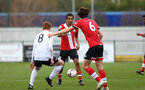 SOUTHAMPTON, ENGLAND - FEBRUARY 21: Caleb Watts of Southamptonduring Premier League 2 match between Southampton B Team and Derby County U23s at The Snows Stadium on February 21, 2021 in Southampton, England. (Photo by Isabelle Field/Southampton FC via Getty Images)