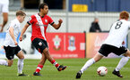 SOUTHAMPTON, ENGLAND - FEBRUARY 21: Caleb Watts of Southampton during Premier League 2 match between Southampton B Team and Derby County U23s at The Snows Stadium on February 21, 2021 in Southampton, England. (Photo by Isabelle Field/Southampton FC via Getty Images)