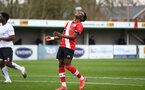 SOUTHAMPTON, ENGLAND - FEBRUARY 21: Kazeem Olaigbe of Southampton during Premier League 2 match between Southampton B Team and Derby County U23s at The Snows Stadium on February 21, 2021 in Southampton, England. (Photo by Isabelle Field/Southampton FC via Getty Images)
