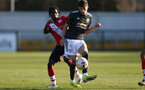 SOUTHAMPTON, ENGLAND - FEBRUARY 27: Zuriel Otseh-Taiwo during Premier League 2 match between Southampton B Team and Manchester United U23s at The Snows Stadium on February 27, 2021 in Southampton, England. (Photo by Isabelle Field/Southampton FC via Getty Images)