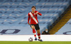 MANCHESTER, ENGLAND - MARCH 10: Jannik Vestergaard of Southampton during the Premier League match between Manchester City and Southampton at Etihad Stadium on March 10, 2021 in Manchester, England. Sporting stadiums around the UK remain under strict restrictions due to the Coronavirus Pandemic as Government social distancing laws prohibit fans inside venues resulting in games being played behind closed doors. (Photo by Matt Watson/Southampton FC via Getty Images)