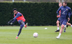 SOUTHAMPTON, ENGLAND - MARCH 17: Kyle Walker-Peters during a Southampton FC training session at Staplewood Campus on March 17, 2021 in Southampton, England. (Photo by Matt Watson/Southampton FC via Getty Images)