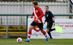 SOUTHAMPTON, ENGLAND - MARCH 27: Sam Bellis of Southampton during the Premier League U18s match between Southampton U18 and  Chelsea at Snows Stadium on March 27, 2021 in Southampton, England. (Photo by Isabelle Field/Southamtpon FC)