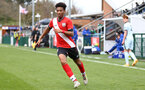 SOUTHAMPTON, ENGLAND - MARCH 27: Fedel Ross-Lang of Southampton during the Premier League U18s match between Southampton U18 and  Chelsea at Snows Stadium on March 27, 2021 in Southampton, England. (Photo by Isabelle Field/Southamtpon FC)