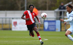 SOUTHAMPTON, ENGLAND - MARCH 27: Ramello Mitchell of Southampton during the Premier League U18s match between Southampton U18 and  Chelsea at Snows Stadium on March 27, 2021 in Southampton, England. (Photo by Isabelle Field/Southamtpon FC)