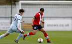 SOUTHAMPTON, ENGLAND - MARCH 27: Josh Squires (R) of Southampton during the Premier League U18s match between Southampton U18 and  Chelsea at Snows Stadium on March 27, 2021 in Southampton, England. (Photo by Isabelle Field/Southamtpon FC)