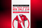 Saints youth shirts just £10